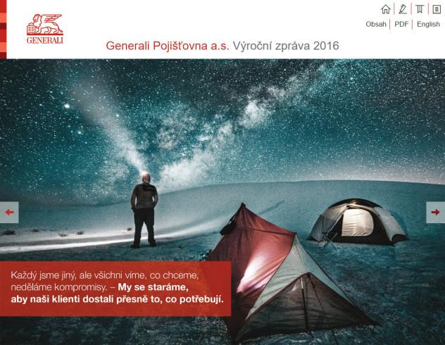 VÝROČNÍ ZPRÁVA GENERALI POJIŠŤOVNY 2016 - úvodní strana