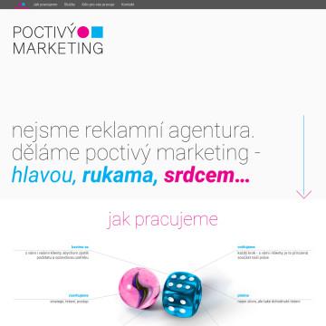 Poctivý marketing - pohled na celou stránku