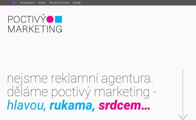 Poctivý marketing - úvodní sekce