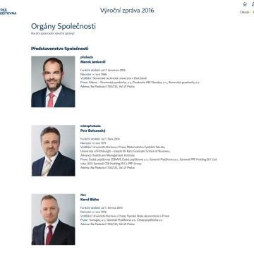 Výroční zpráva České pojišťovny 2016