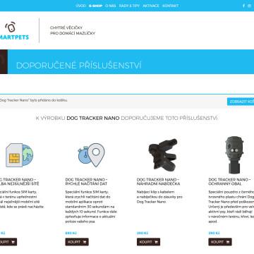 Smartpets.cz - nabídka doporučeného příslušenství k zakoupenému produktu