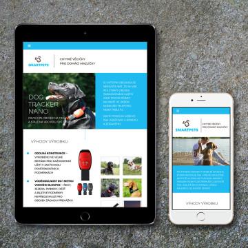Smartpets.cz - zobrazení na mobilních zařízeních