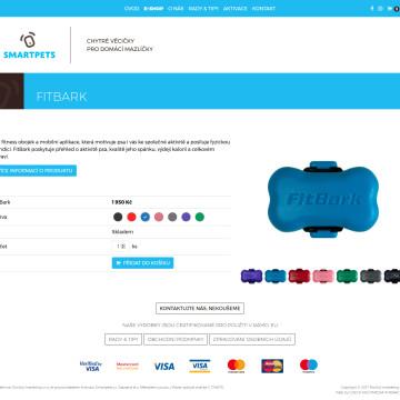 Smartpets.cz - stránka produktu v e-shopu