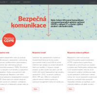 Bezpečná komunikace.cz - úvodní strana