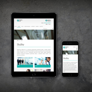 Webová prezentace NEXIA AP - zobrazení na mobilních zařízeních
